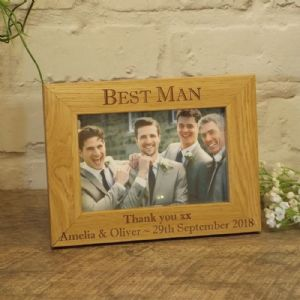 Personalised Best Man Usher Groomsman Wooden Photo Frame